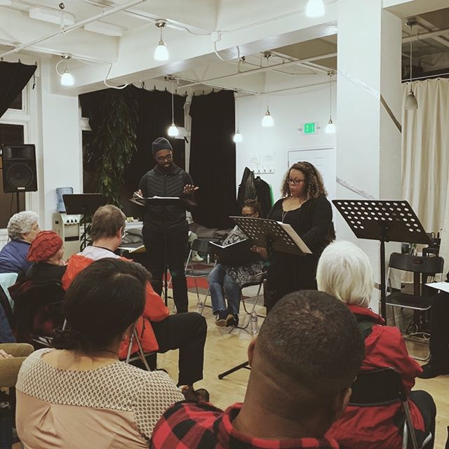 Even with jam-packed work schedules, we always try to find time to flex our creative muscles. Recently, @ponayemi read the part of Agamemmnon for playwright @iamanyapearson in her play, The Killing Fields, a reimagining of the Ancient Greek play. Set in 1980s East Oakland, the play examines love, loss, and vengeance through an African American lens. It was a great chance to see Prentice in the zone and to check out the Portland theater scene.