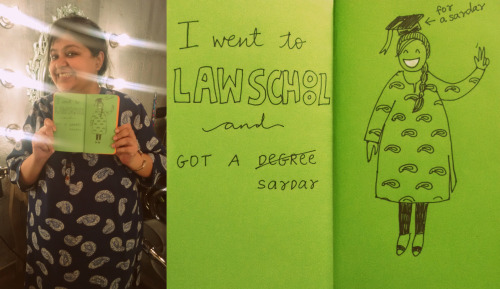 I went to law school and got a Sardar. #nicetomeetyouinMumbai Tanisha.