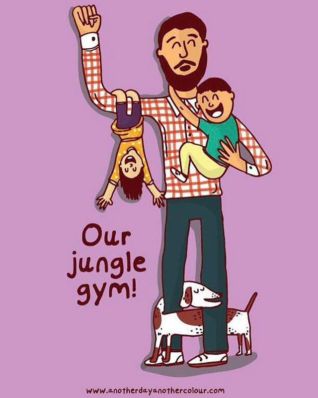 To all the fathers! - #happyfathersday #junglegym #illustration #art #drawing