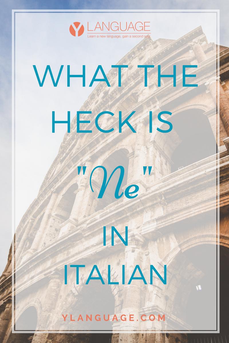 """Learn To Speak Italian: WHAT THE HECK IS """"NE"""" IN ITALIAN?"""