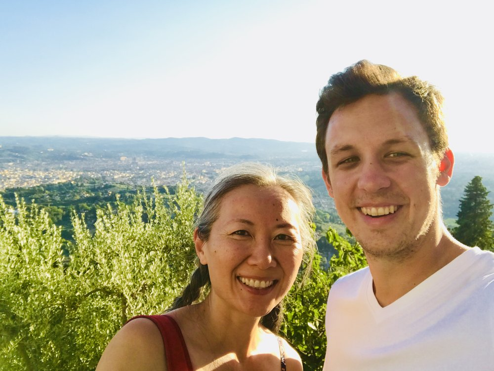 Belinda and Luke in Fiesole right above Florence, Italy.