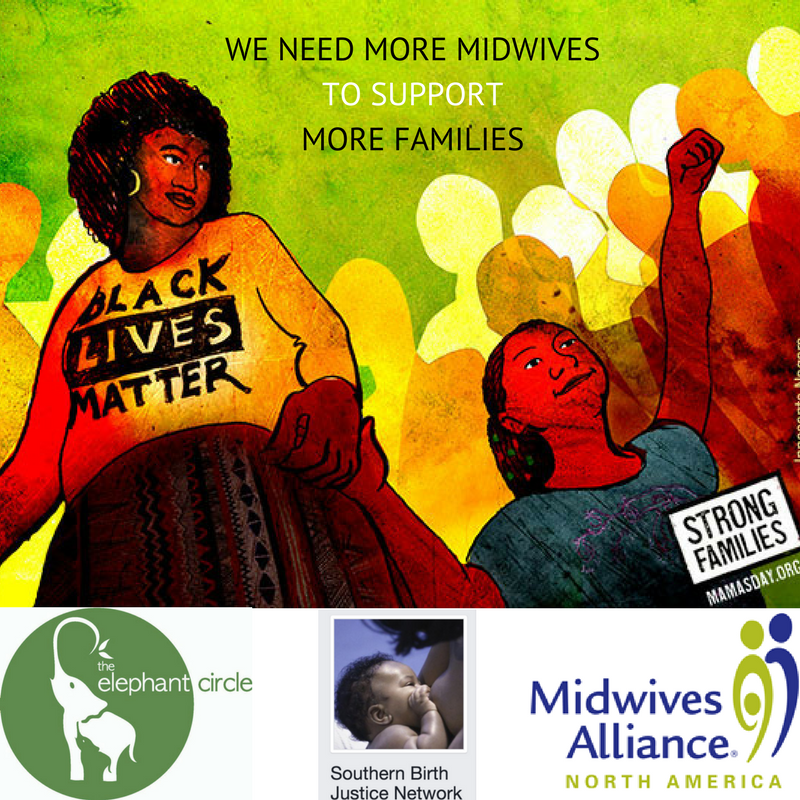 Mamas Day - Families of all kinds need midwives. But not all families have access to a midwife who looks like them or comes from their community. That's why Elephant Circle, The Midwives Alliance, Southern Birth Justice Network, and Strong Families have come together for this digital campaign. Starting on International Day of the Midwife (May 5th) and going through Mother's Day (May 14th) we are asking people to send a card to a midwifery leader reminding them that we need midwives for all families. Get instructions for how to participate here!