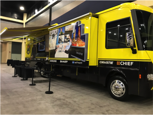 Stampede's Mobile Technology Showroom on display during the event.