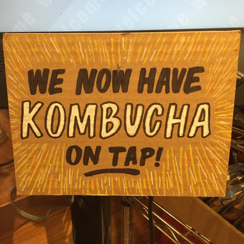 Kombucha on Tap at Canyon Market.