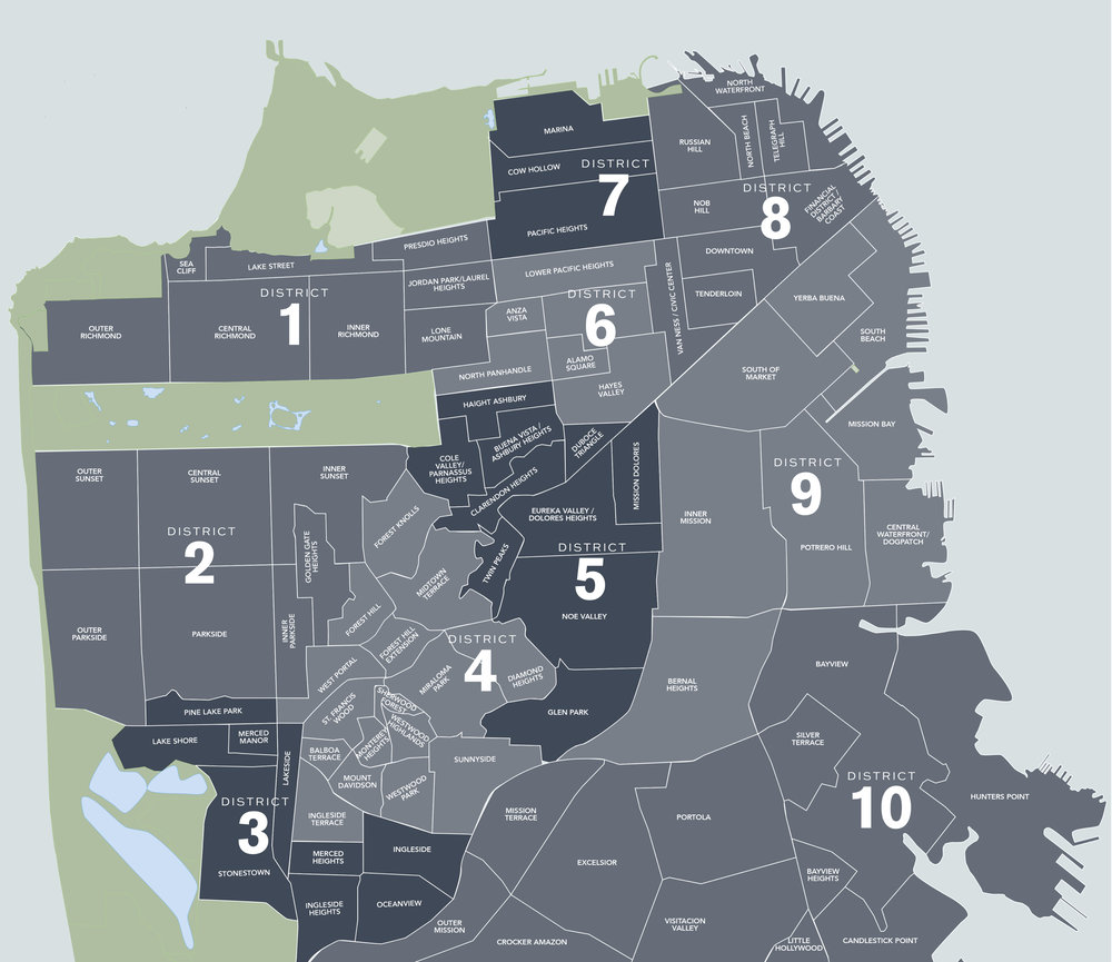 SF District Map