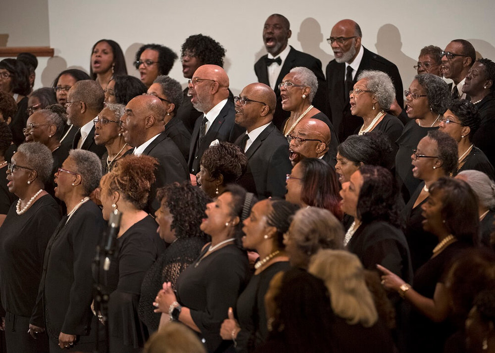 The choirs of Lincoln Heights Missionary Baptist Church, New Jerusalem Baptist Church, and Southern Baptist Church joined voices for Opera Goes to Church.