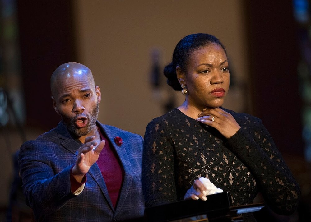 Soloists tenor Albert Lee and soprano Kimwana Doner