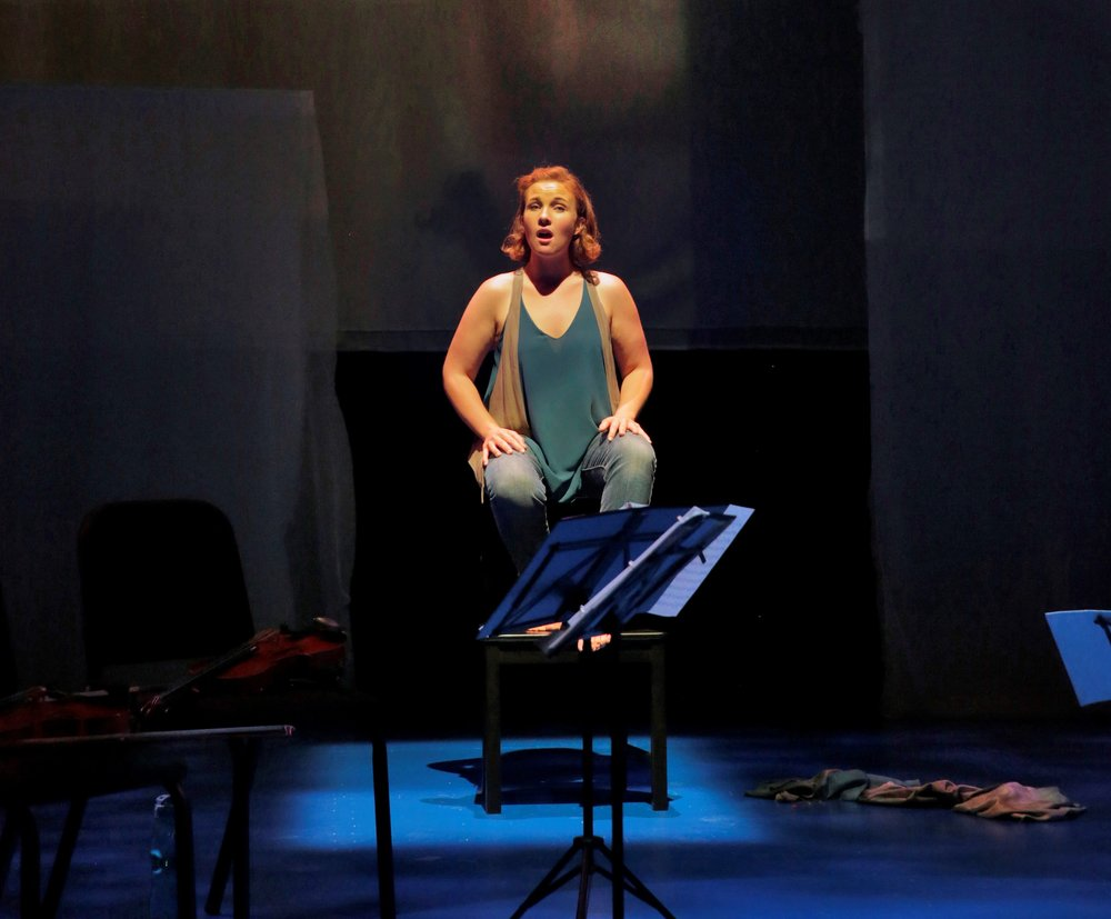 The 2014 premiere of  As One  at the Brooklyn Academy of Music featured Mezzo-soprano Sasha Cooke. Photo by Ken Howard.