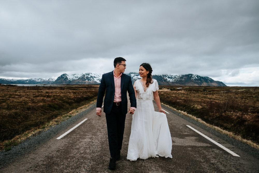 wedding in Lofoten, Norway