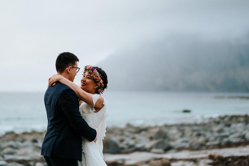 Wedding photos in Lofoten Norway
