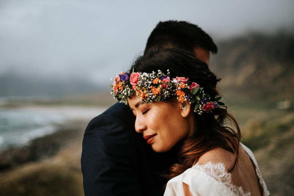 Sunset wedding portraits norway