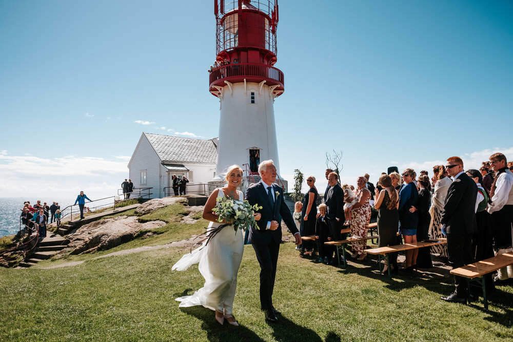 Wedding ceremony at Lindesnes Lighthouse