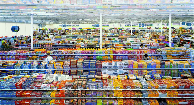Photo of a dollar store by Andreas Gursky