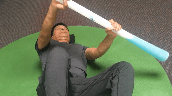 This looks easy, but requires focus, coordination, and core strength.