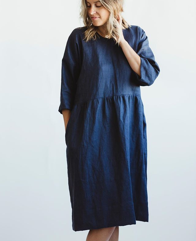 The Everyday linen dress by @korinnevader is here 💕✨👏. Her garments are so perfectly made, meant to be layered and last you a lifetime!  #getonmybodyandinmycloset #madeincanada #slowfashion
