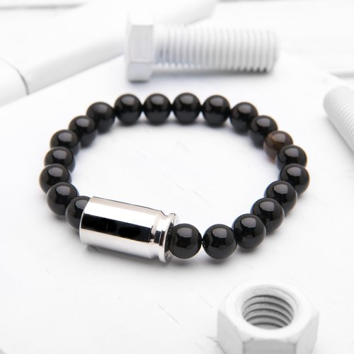 new buy veterans bracelet mini today black onyx bracelets bu look help brass and bullet product