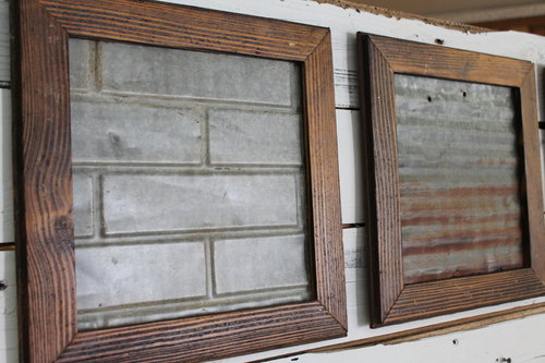 Reclaimed Barn Wood and Tin Frame Set — SMOKY HILL RUSTIC