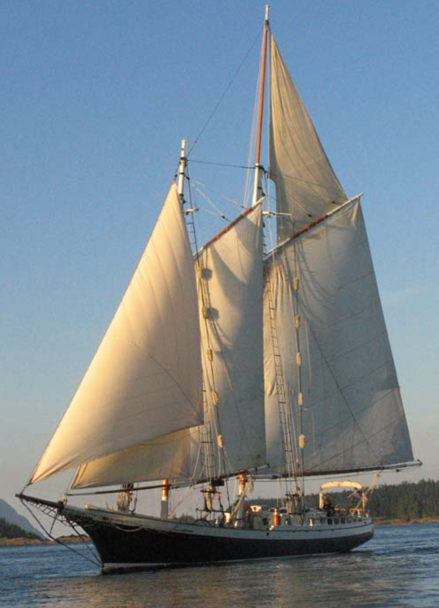 Slow Stitching Historic Tall Ship Cruise thru San Juan Islands in WA plus Shop Hop in Seattle.