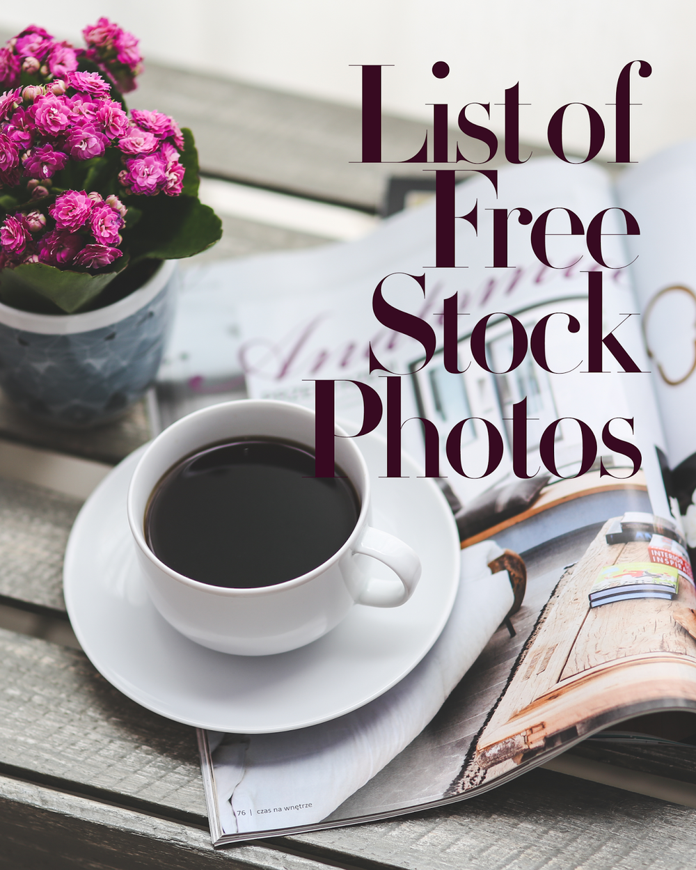 List of Free Stock Photos that is great for your business