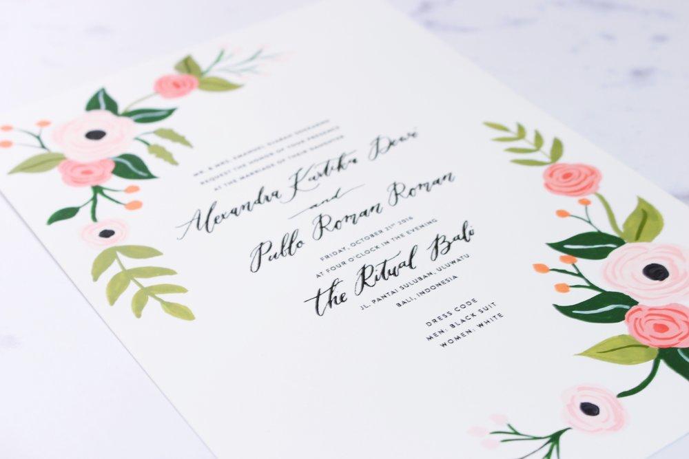 latest work florals wedding invitation winny irmarooke