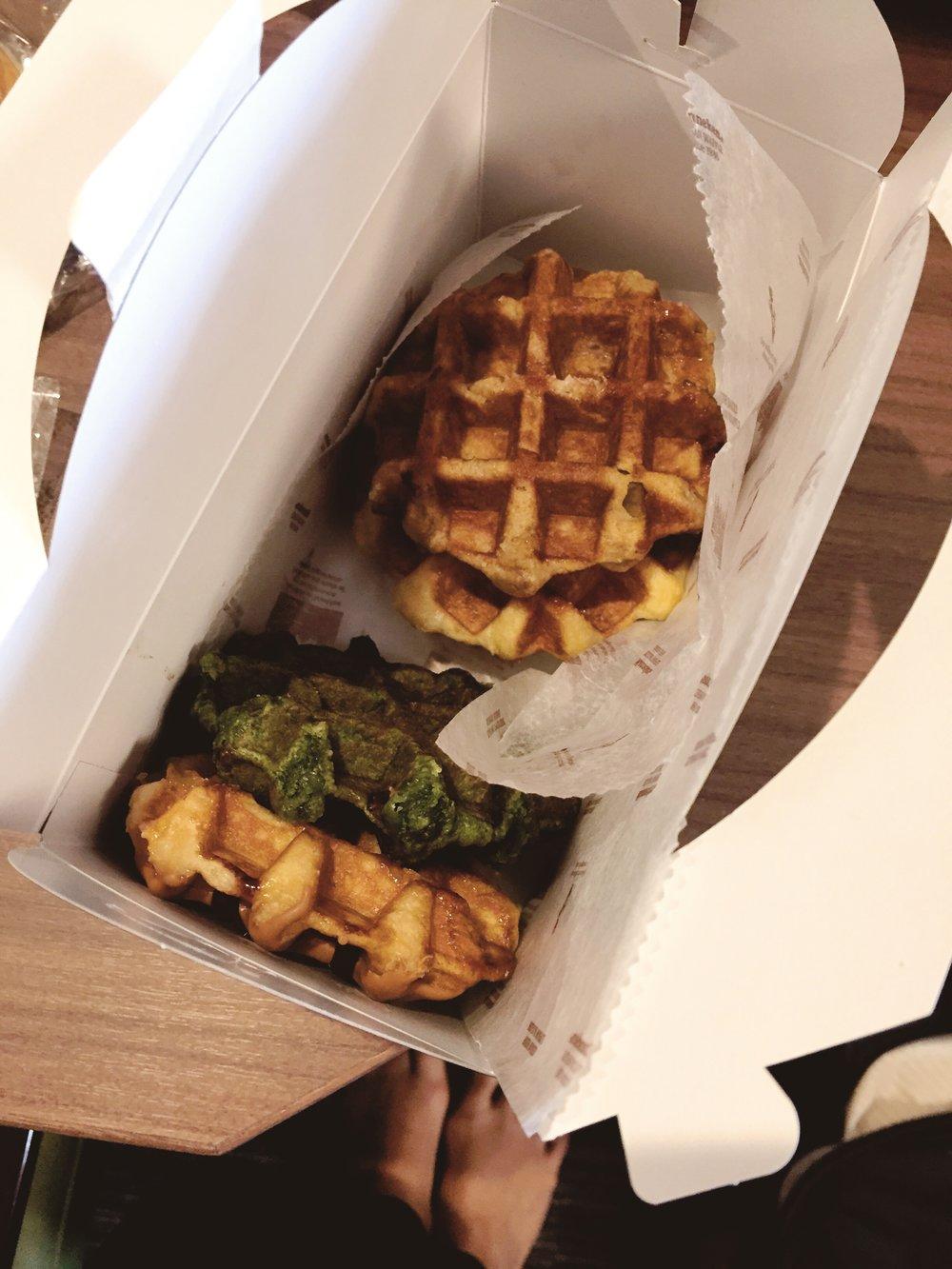 Best waffles in Ginza. Sebelum vegan.