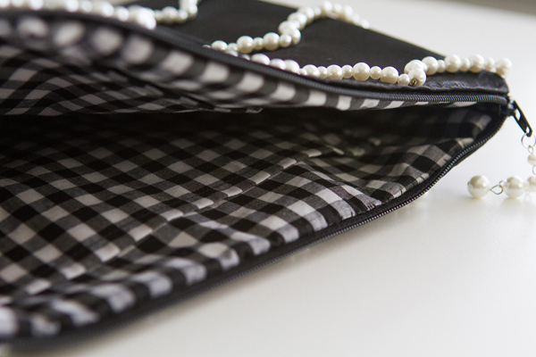 Gingham lining