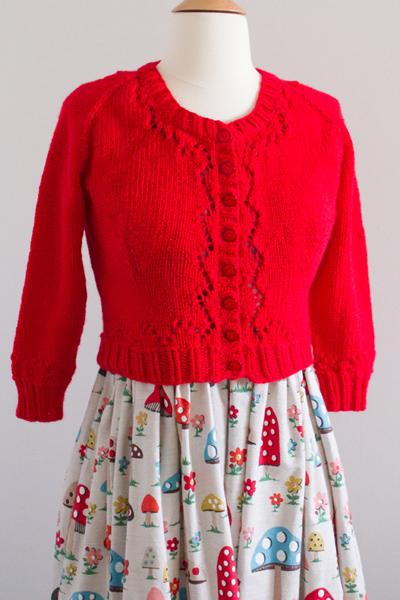 Looks perfect with my mushroom print dress!