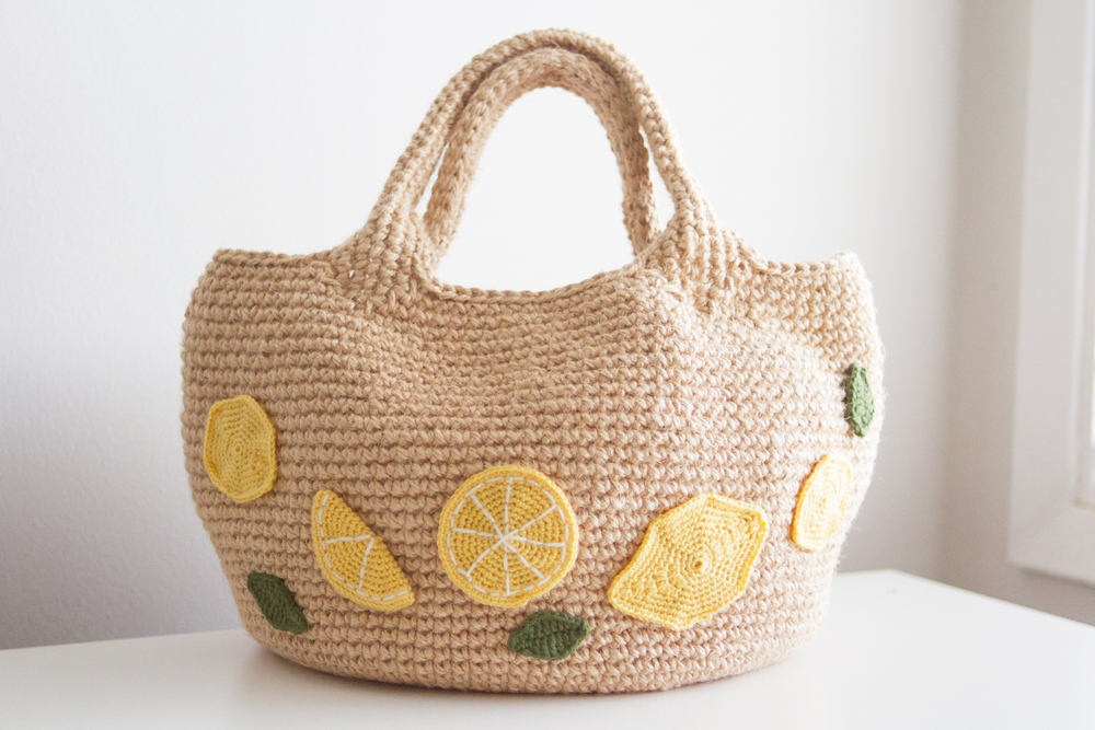 Crocheted bag by Maiko. So pretty and well made!