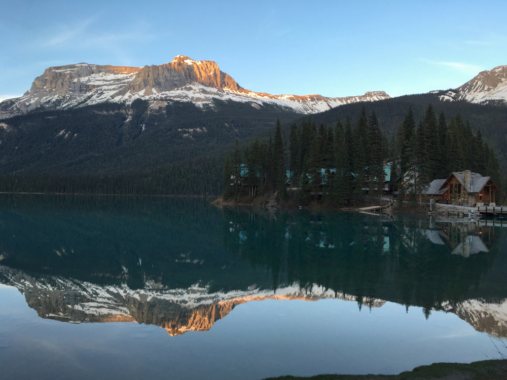 Sunset at Emerald Lake