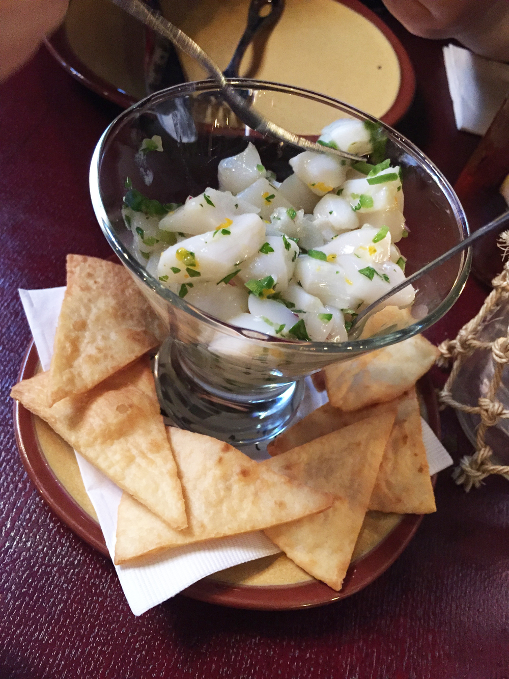 ホタテのセビーチェ Scallop Ceviche