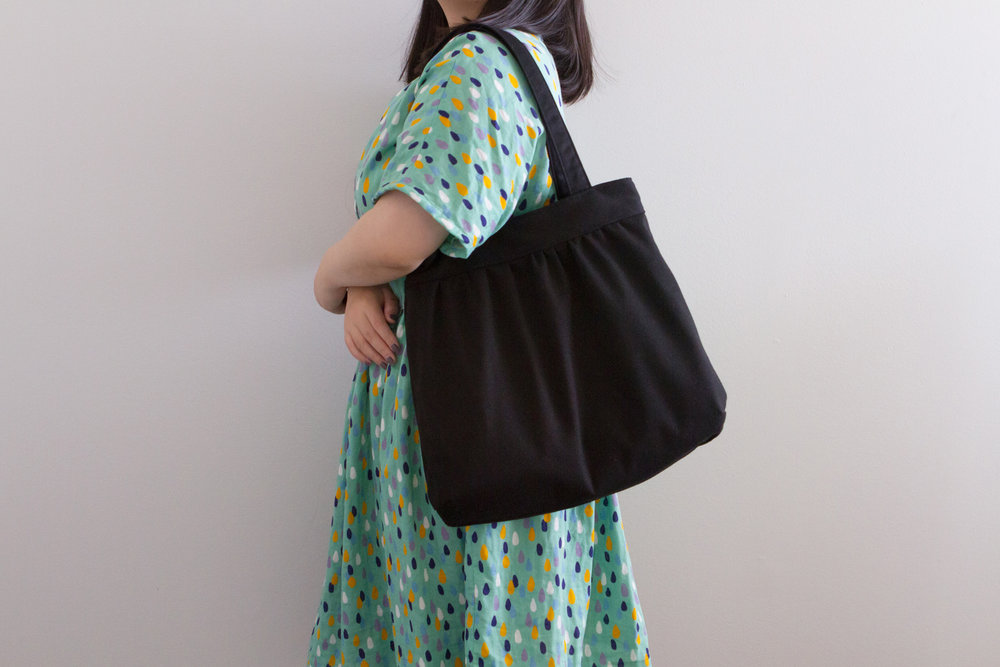 My clothes are mostly colourful and have busy prints, so simple bag is a must-have :)