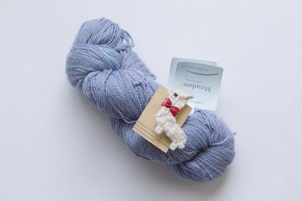 Alpaca pin and yarn I bought for myself