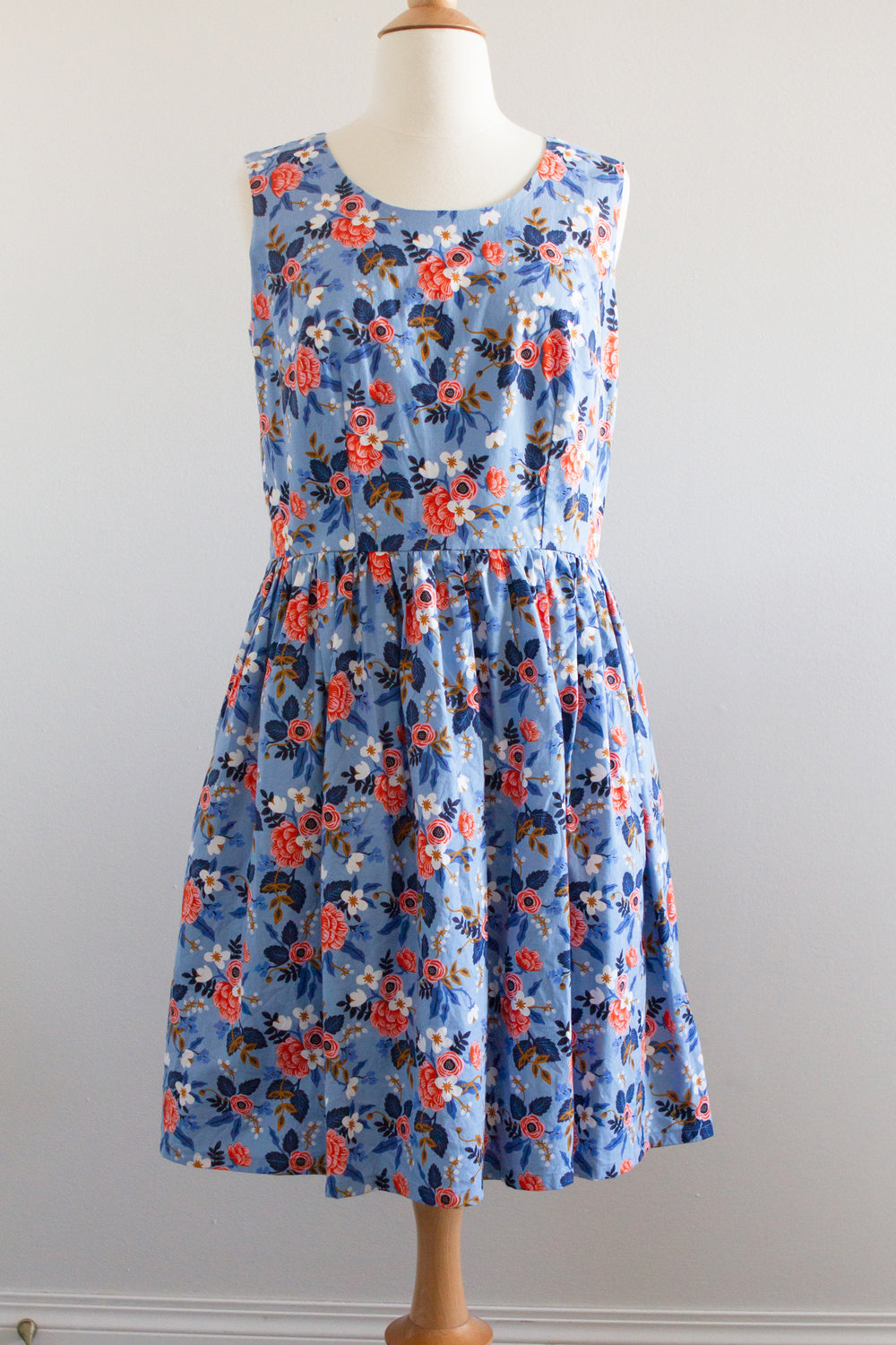 Dress made with Rifle Paper Co. fabric