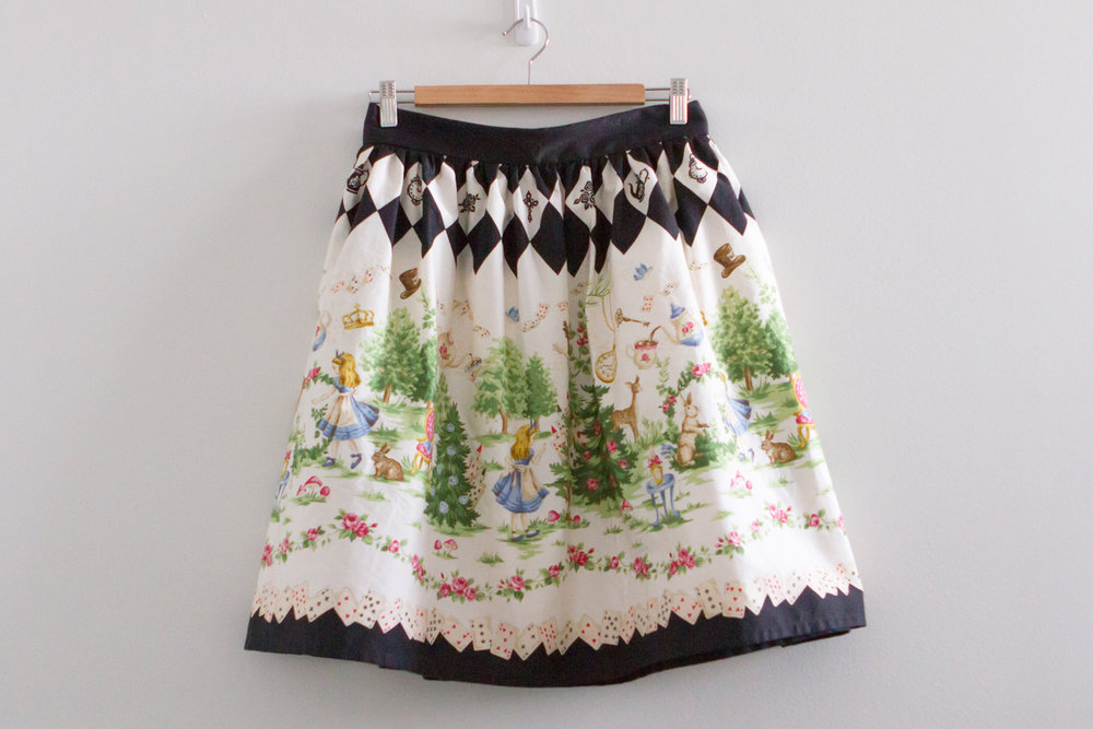 Alice print gathered skirt