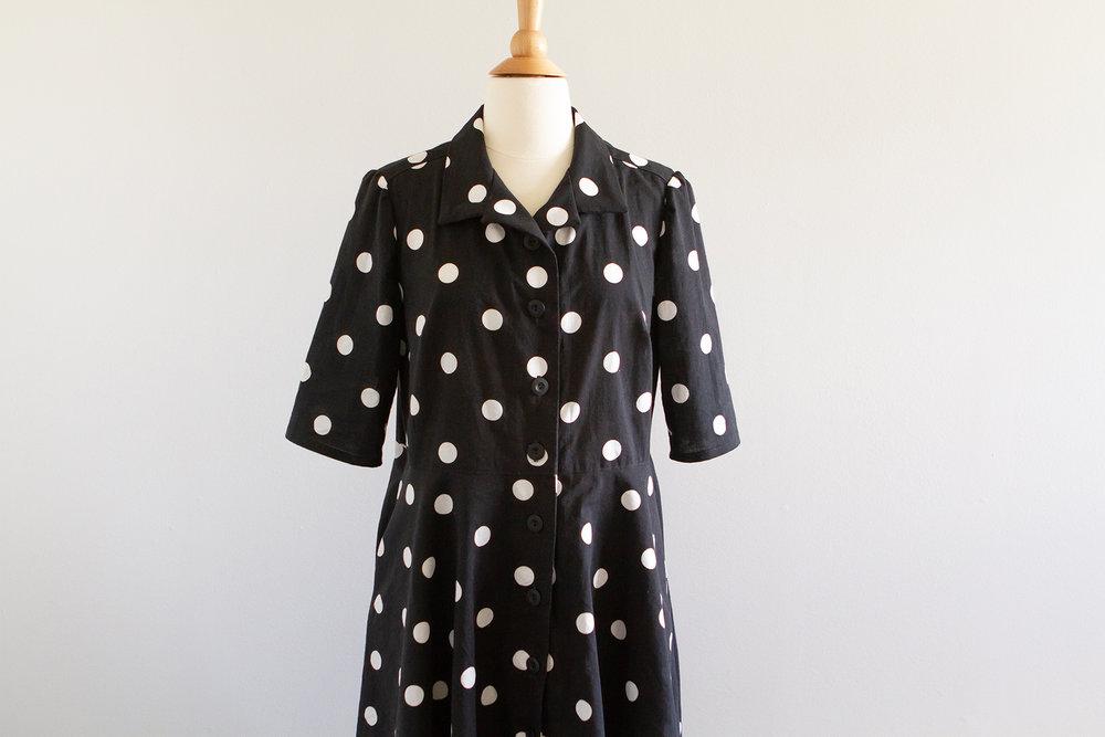 polka dot shirt dress mccall s m7351 aya buttons