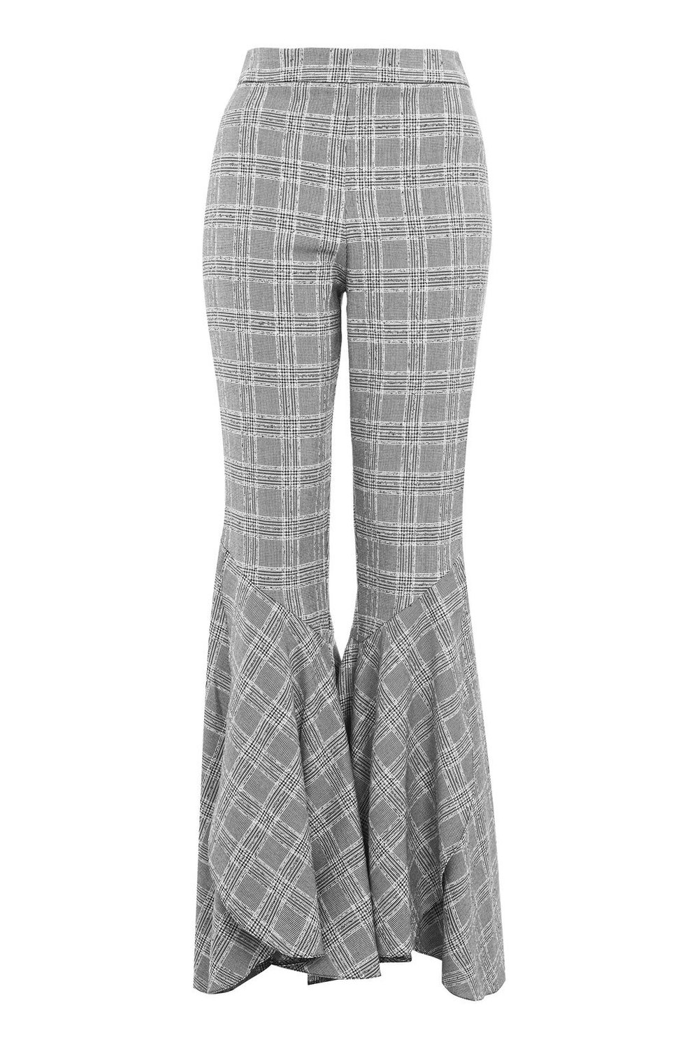 Checked Super Flare Trousers
