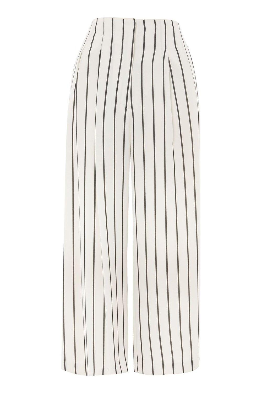 Stripe Crop Wide Trousers