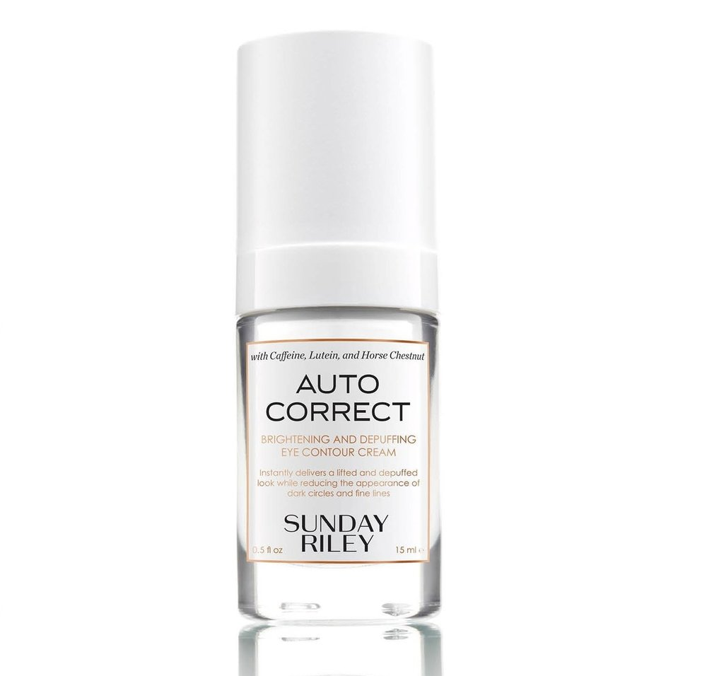 Sunday Riley Auto Correct Eye Cream - This eye cream is a life saver. My eyes are typically pretty puffy when I wake up, so I put this on after I wash my face, and it saves the day.