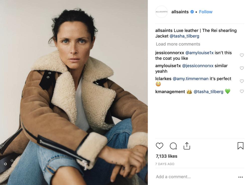 ALLSAINTS Shearling Jacket
