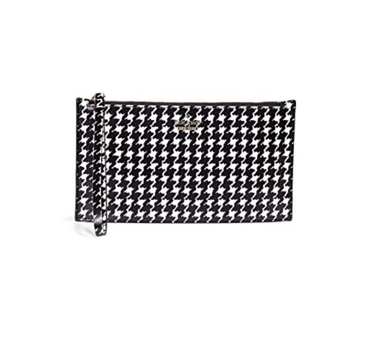 Wristlet - Wristlets are the perfect gift for someone who is traveling a lot, or someone who goes to sporting events. You have to have small bags at many events now, and this houndstooth one would be perfect for a ~certain~ football game at the end of the year.