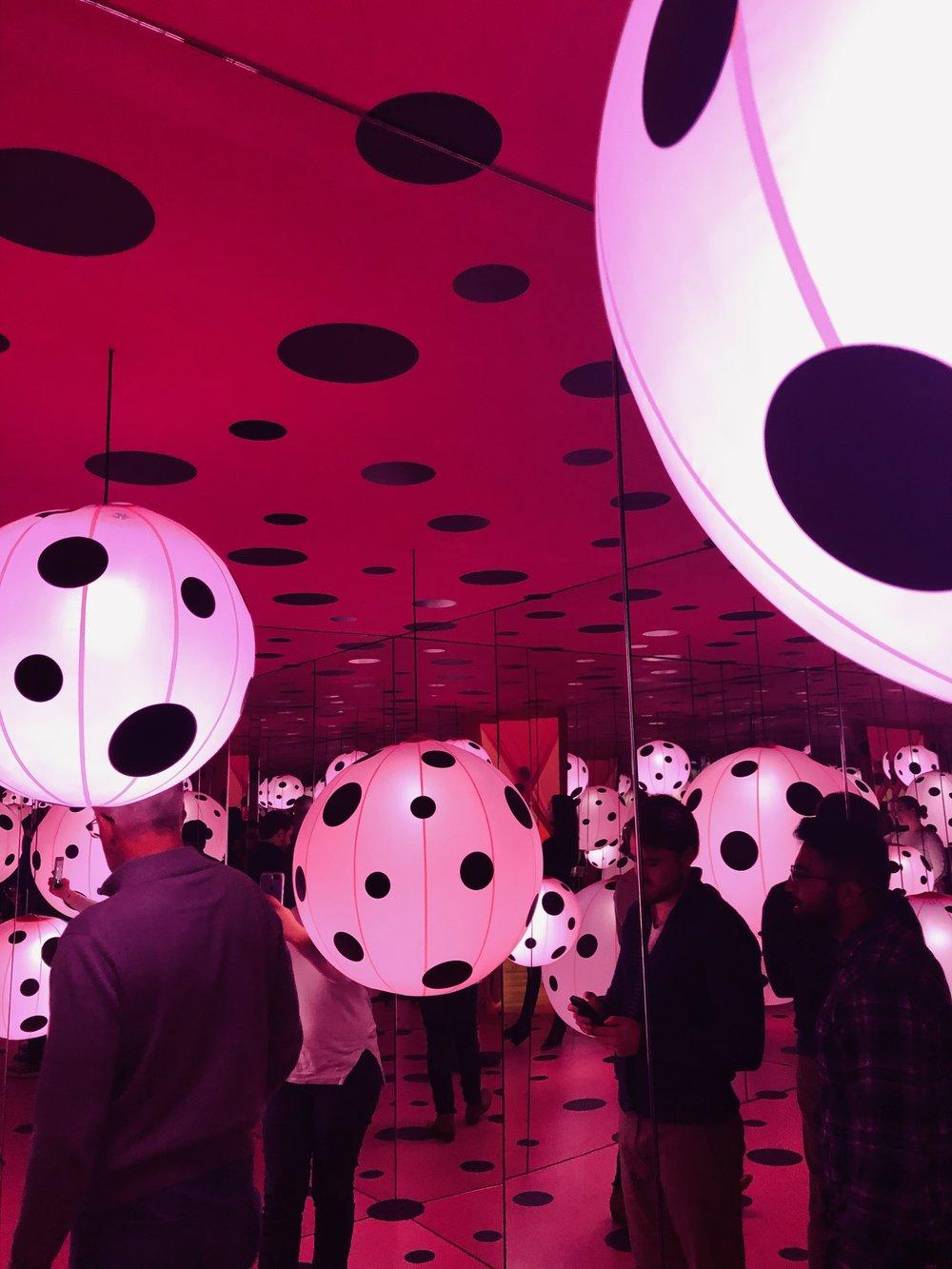 pink dots Kusama 3
