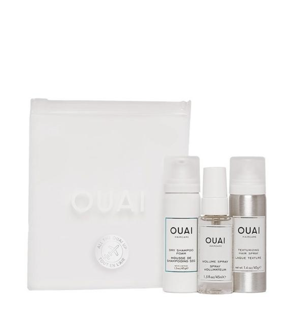 Ouai Travel Kit - This kit is great for a lot of things, but two of them are 1. trying out Ouai products if you are a newbie and 2. all of those vacays you are headed on in 2019.