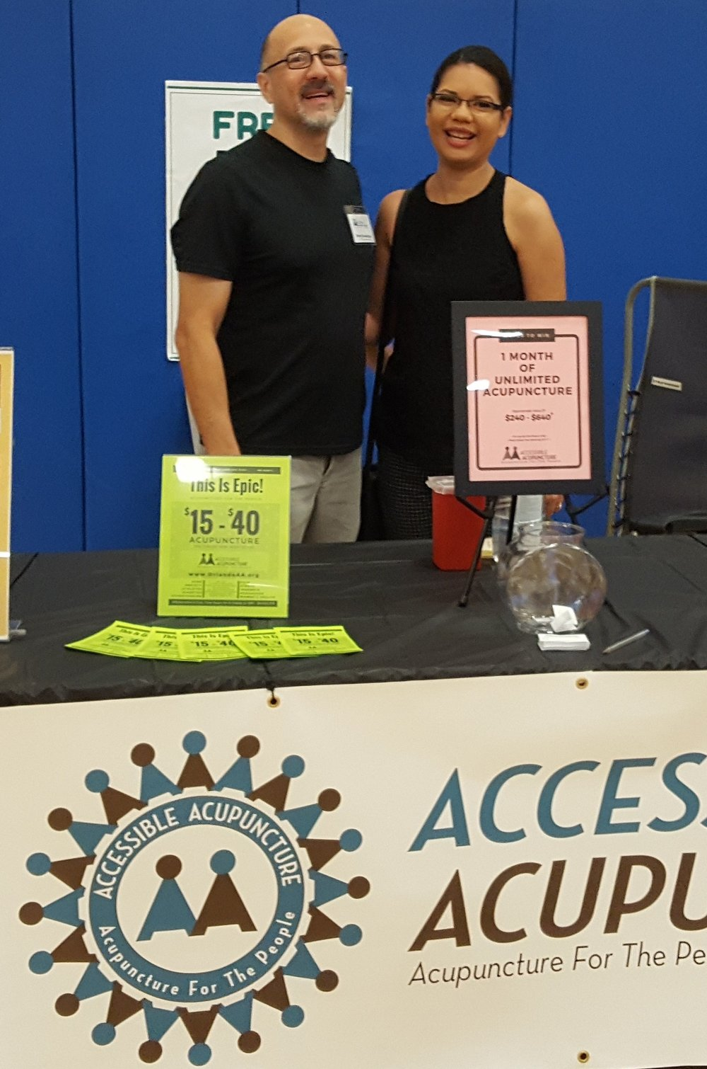 Bob with Orange County Commissioner Emily Bonilla at the Orange County Back 2 School & Wellness Fair