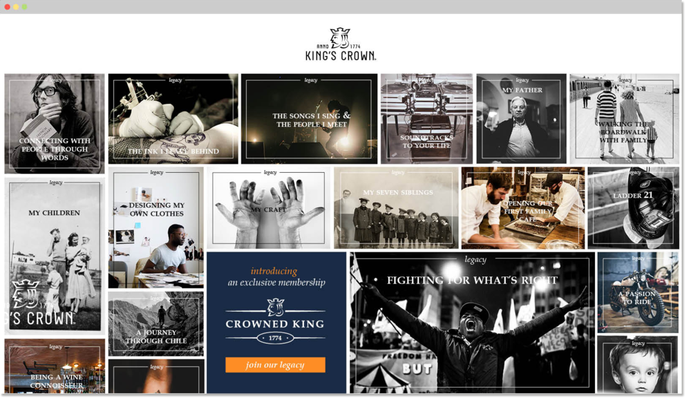 Showcase everyone's legacy on blog where they can discover King's Crown™ membership program.