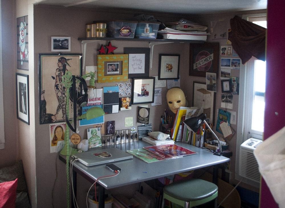 Kaitlin's studio