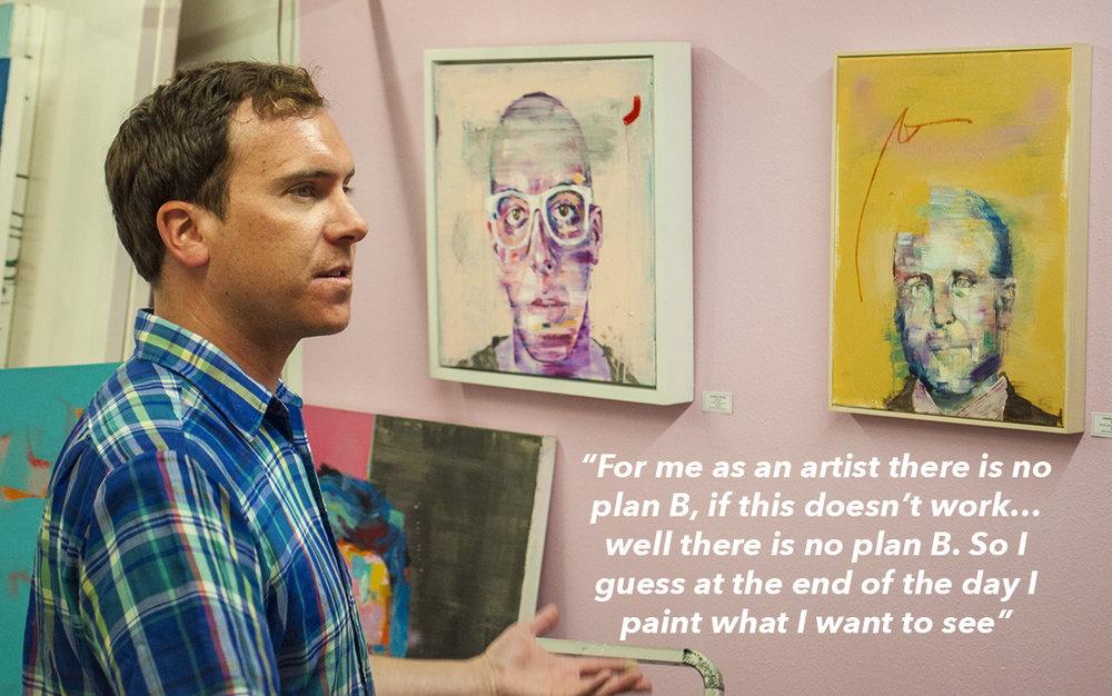 Jonathan McAfee in his studio