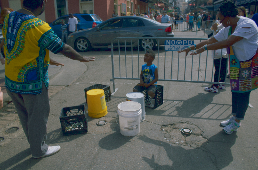 little boy at french quarter fest, April 2016