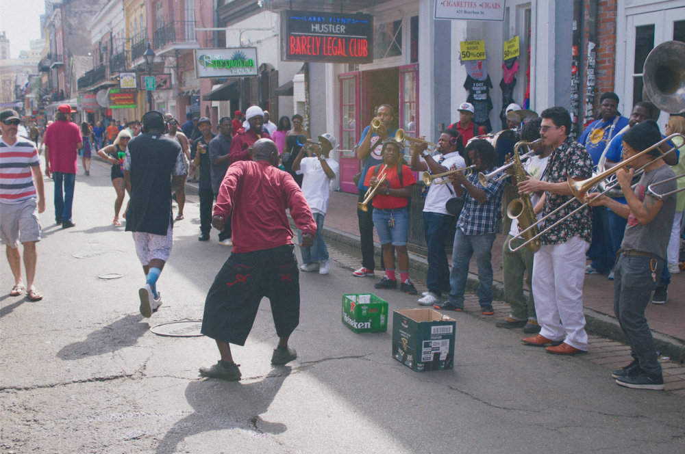 scene at french quarter fest, April 2016