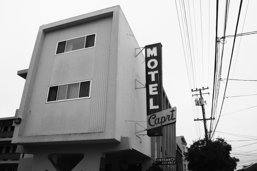 motel in San Francisco, August 2016