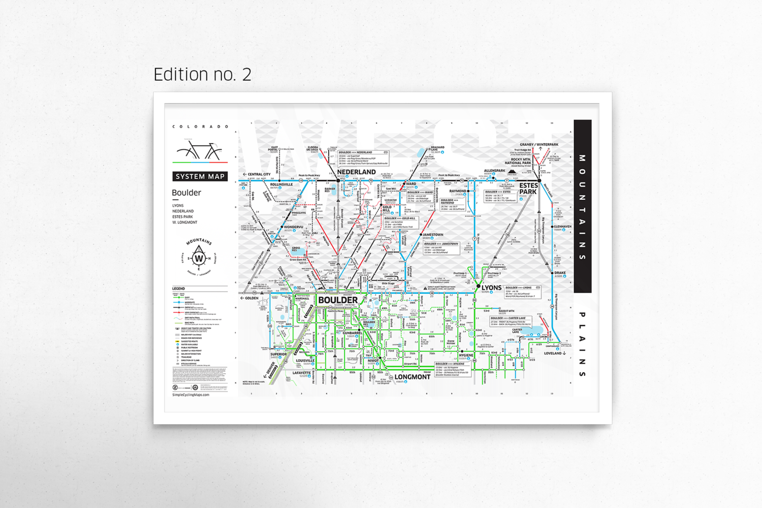 Boulder system map poster edition 2 boulder bike map boulder system map poster edition 2 ccuart Choice Image